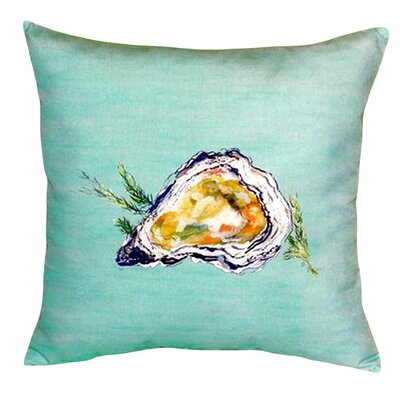 Oyster Shell Indoor/Outdoor Throw Pillow Color: Teal