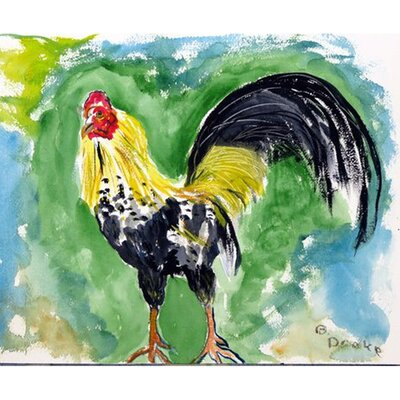 Bantam Rooster Doormat Mat Size: Rectangle 16 x 22
