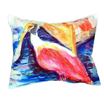 Spoonbill Indoor/Outdoor Lumbar Pillow