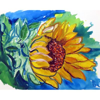 Windy Sunflower Doormat Mat Size: Rectangle 16 x 22