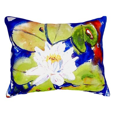 Lily Pad Flower Indoor/Outdoor Lumbar Pillow