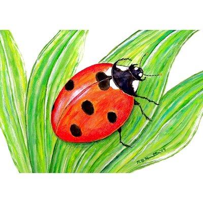 Garden Lady Bug Doormat Size: 18 H x 26 W