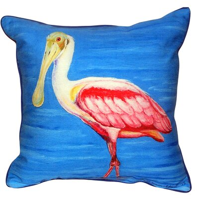 Dicks Spoonbill Indoor/Outdoor Throw Pillow Size: Large