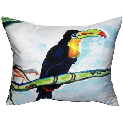 Toucan Indoor/Outdoor Lumbar Pillow Size: Small