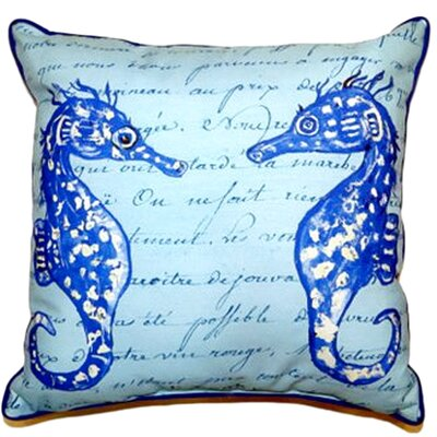Sea Horses Indoor/Outdoor Throw Pillow Size: Small