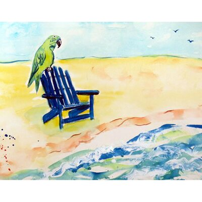 Parrot and Chair Doormat Mat Size: Rectangle 26 x 42