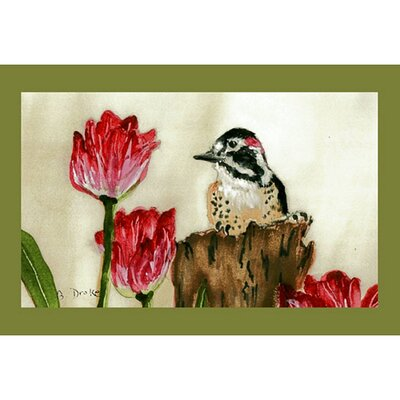 Garden Woodpecker Doormat Size: 18 H x 26 W