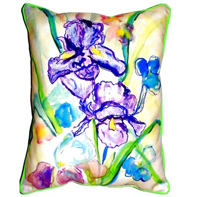 Two Irises Indoor/Outdoor Lumbar Pillow Size: Large