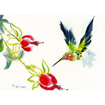 Garden Hummingbird Doormat Size: 30 H x 50 W