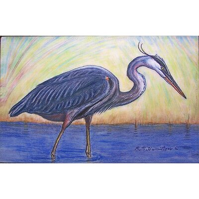 Coastal Heron Doormat Mat Size: Rectangle 30 x 50