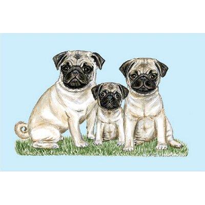 Pets Pugs Doormat Size: 18 H x 26 W