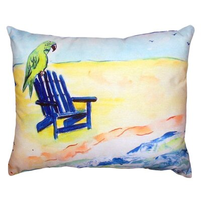 Parrot and Chair Indoor/Outdoor Lumbar Pillow