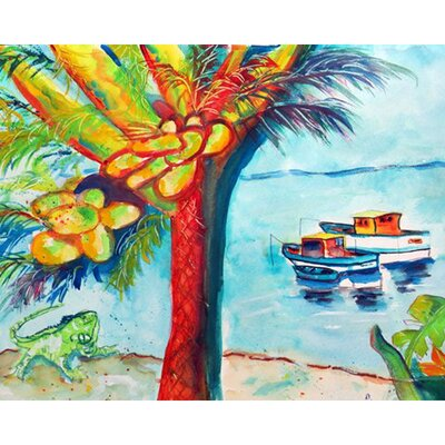 Cocoa Nuts and Boat Doormat Mat Size: Rectangle 26 x 42