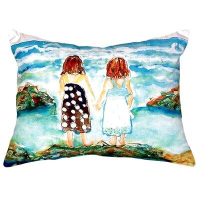 Twins on Rocks Indoor/Outdoor Lumbar Pillow