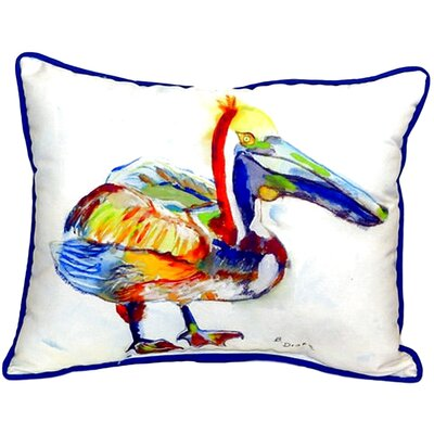 Heathcliff Pelican Indoor/Outdoor Lumbar Pillow Size: 16 H x 20 W