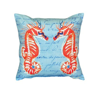 Sea Horses Indoor/Outdoor Throw Pillow