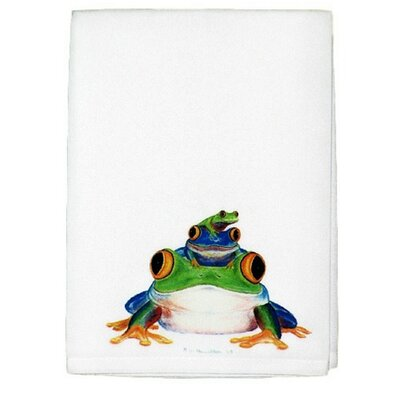 Stacked Frogs Hand Towel