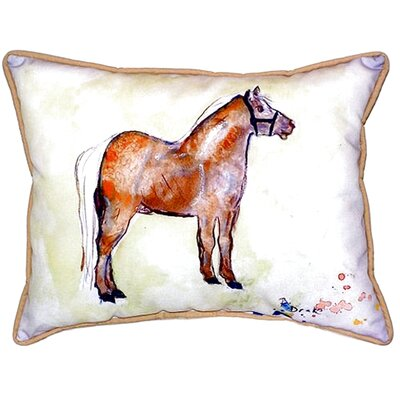 Shetland Pony Indoor/Outdoor Lumbar Pillow Size: Small