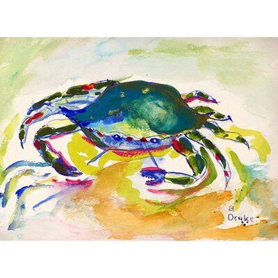 Crab Doormat Mat Size: Rectangle 26 x 42