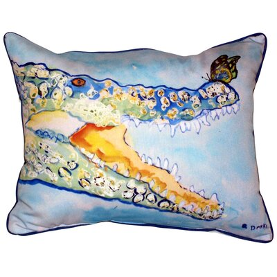Croc and Butterfly Indoor/Outdoor Lumbar Pillow Size: Large