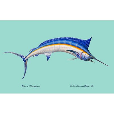 Coastal Marlin Doormat Mat Size: Rectangle 18 x 26