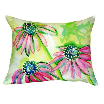Cone Flowers Indoor/Outdoor Lumbar Pillow