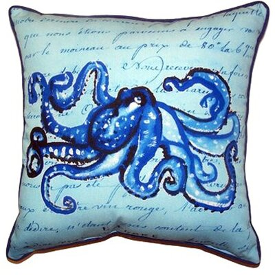 Script Octopus Indoor/Outdoor Throw Pillow Size: Large