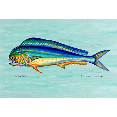 Coastal Dolphin Fish Doormat Size: Rectangle 18 x 26