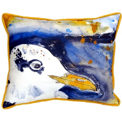Gull Portrait Right Indoor/Outdoor Lumbar Pillow Size: 11 H x 14 W
