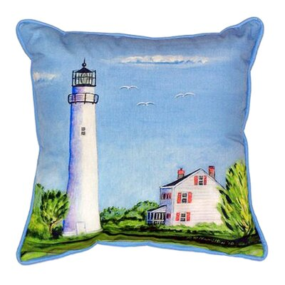 Fenwick Island Light House Indoor/Outdoor Throw Pillow Size: Large