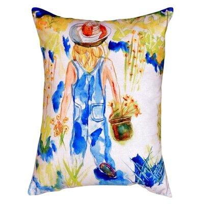 Garden Girl Indoor/Outdoor Lumbar Pillow