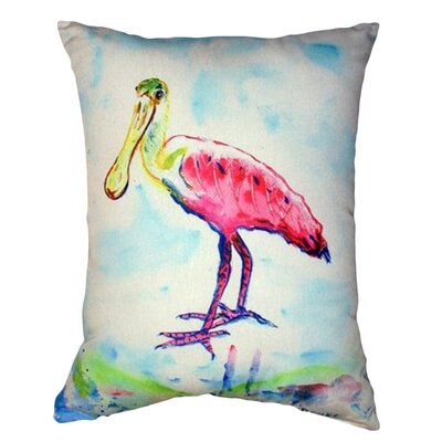 Spoonbill Indoor/Outdoor Lumbar Pillow