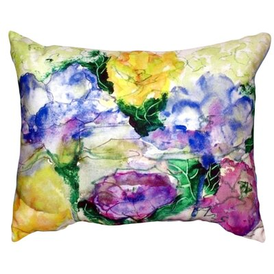 Watercolor Garden Indoor/Outdoor Lumbar Pillow