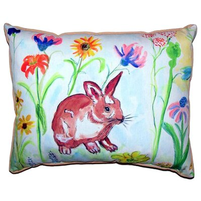 Whiskers Bunny Indoor/Outdoor Lumbar Pillow Size: Small