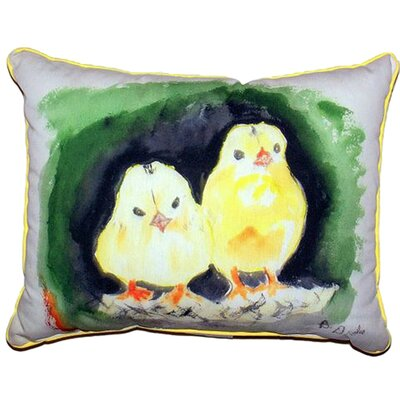 Chicks Indoor/Outdoor Lumbar Pillow Size: Large