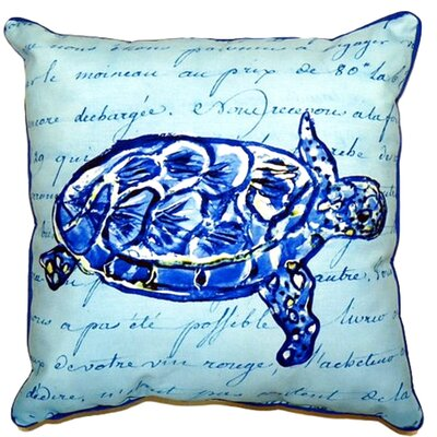 Sea Turtle Script Indoor/Outdoor Lumbar Pillow Size: Small