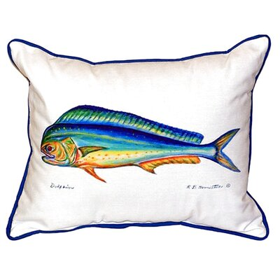 Dolphin Indoor/Outdoor Lumbar Pillow Size: Small