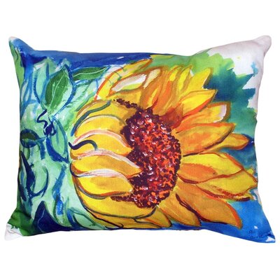 Windy Sunflower Indoor/Outdoor Lumbar Pillow