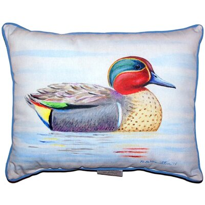 Teal Wing Indoor/Outdoor Lumbar Pillow Size: Small