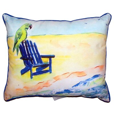 Parrot and Chair Indoor/Outdoor Lumbar Pillow Size: Large