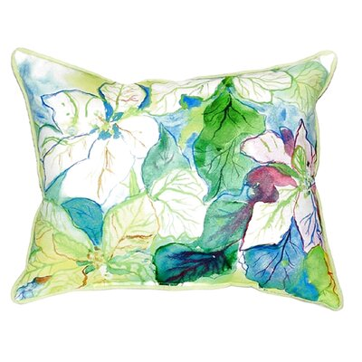 Poinsettia Indoor/Outdoor Lumbar Pillow Size: Small