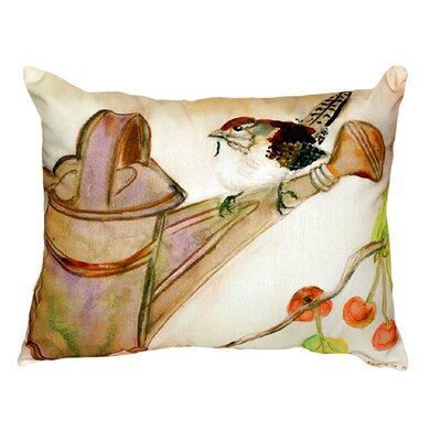 Carolina Wren Indoor/Outdoor Lumbar Pillow