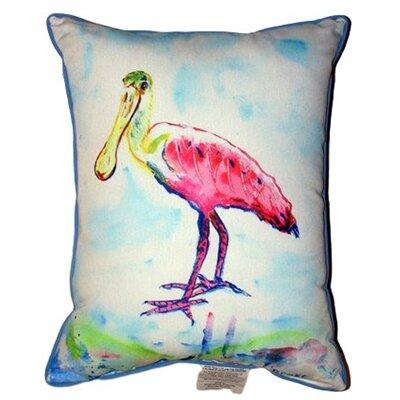 Spoonbill Indoor/Outdoor Lumbar Pillow Size: Extra Large