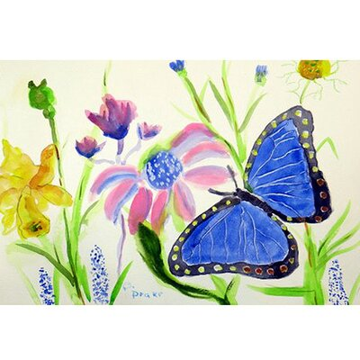 Morpho Doormat Rug Size: Rectangle 16 x 22
