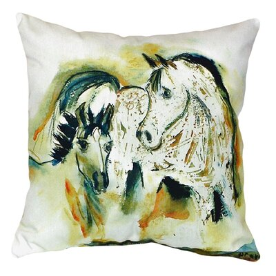 Mare and Colt Indoor/Outdoor Throw Pillow