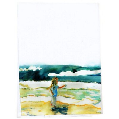 Girl at Beach Hand Towel