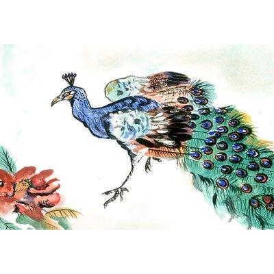 Garden Peacock Doormat Size: 30 H x 50 W