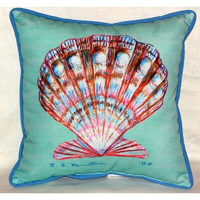 Scallop Shell Indoor/Outdoor Throw Pillow