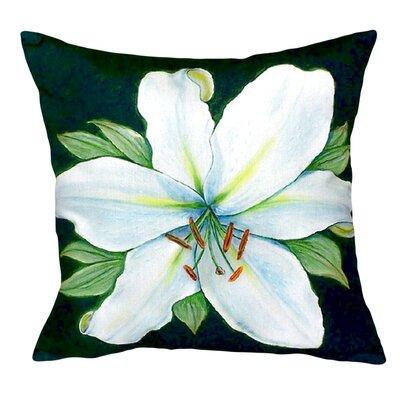 Casablanca Lily Indoor/Outdoor Throw Pillow