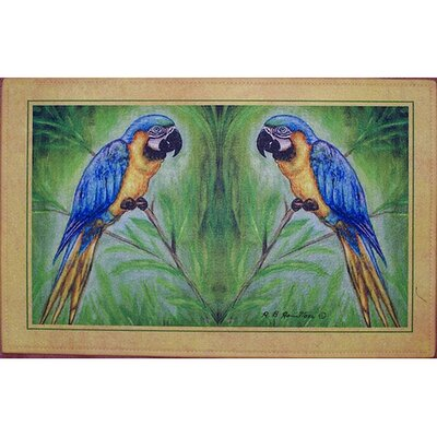 Coastal Macaw Doormat Mat Size: Rectangle 30 x 50